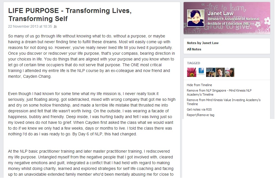 Janet Testimonial Part 1