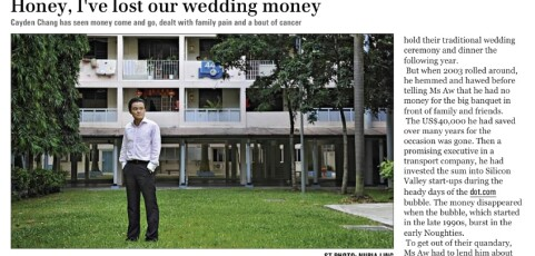 "NLP SINGAPORE – ""Honey, I've lost our wedding money"" (Sunday Times, 10th Jun 12)"